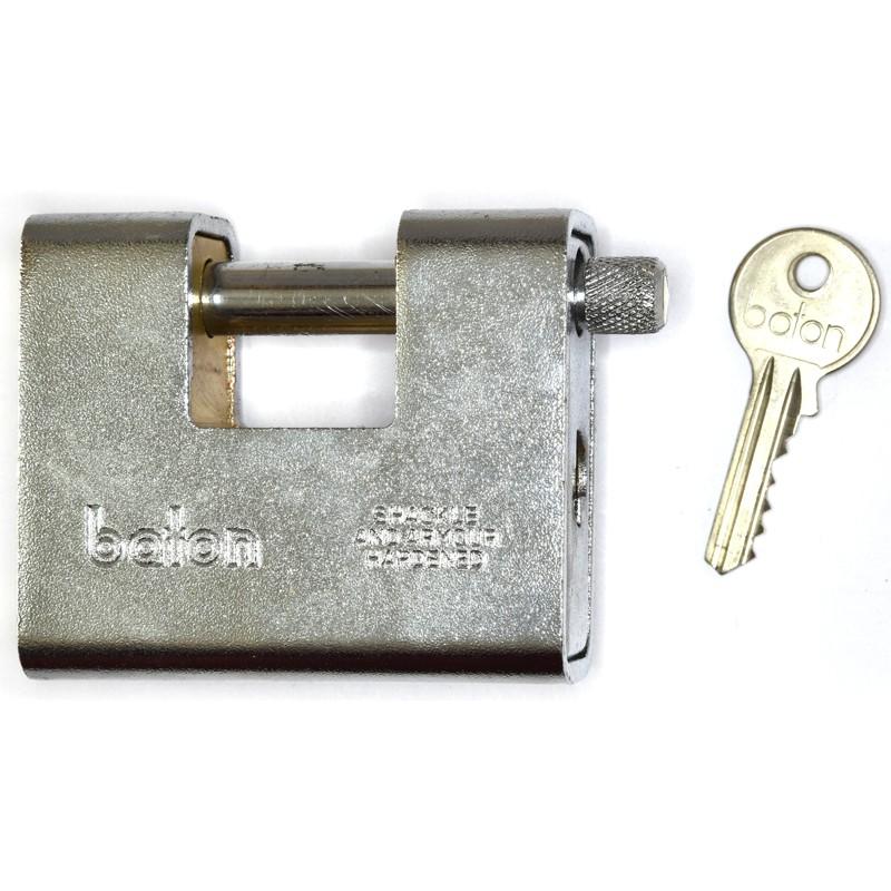 Baton Anvil block armored padlock