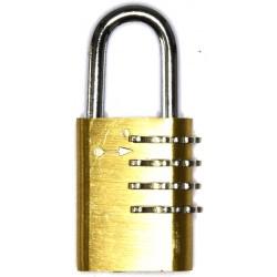 Lever set combination padlock