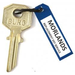 Burg 5R key blank.