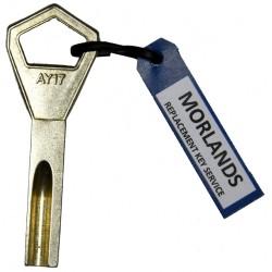 Abloy Silca AY17 key blank