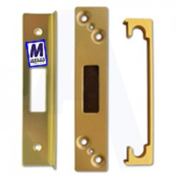 ASEC mortice dead lock rebate kit, 13mm, brass.