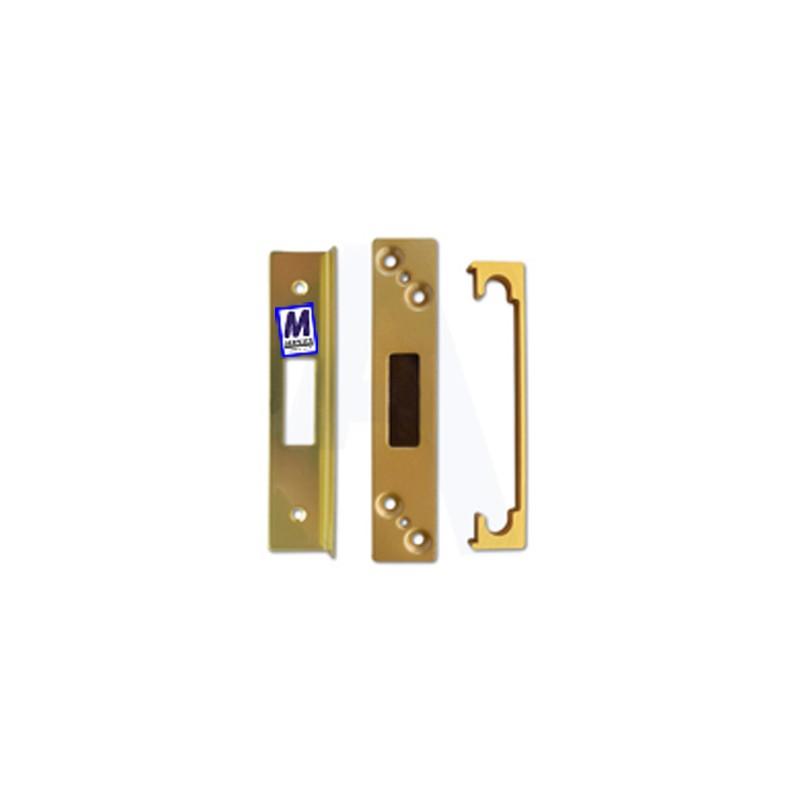 ASEC mortice dead lock rebate kit, 13mm, brass.