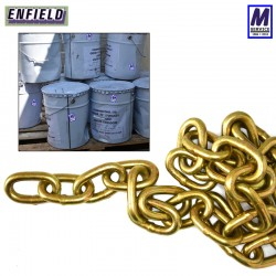 Bucket of chain 30m x 8mm through hardened