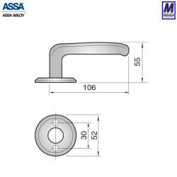 Assa 696 handle sizes