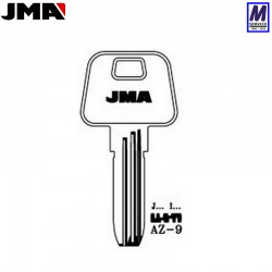 JMA AZ9 key blank Azbe profile