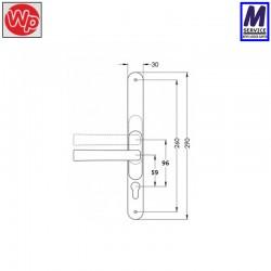 Flexi pvc door handle dimensions