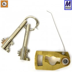 Kromer lever pack with detachable key bit and cutout