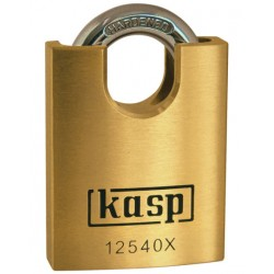 Kasp close shackle brass padlock