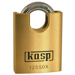 Kasp Premium padlock with high shoulders.