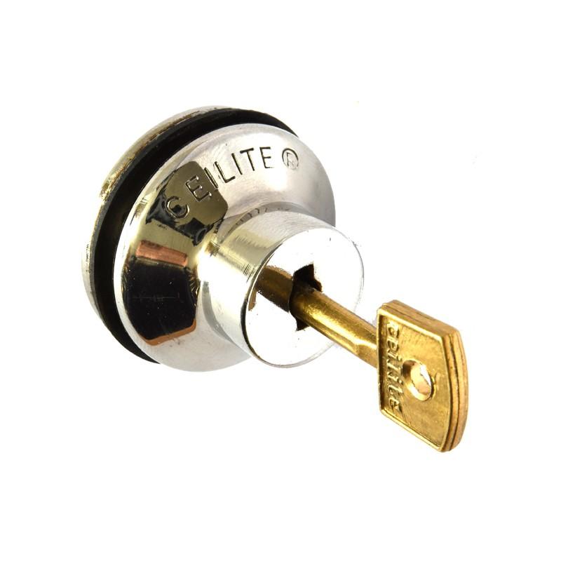 Push lock for glass sliding doors